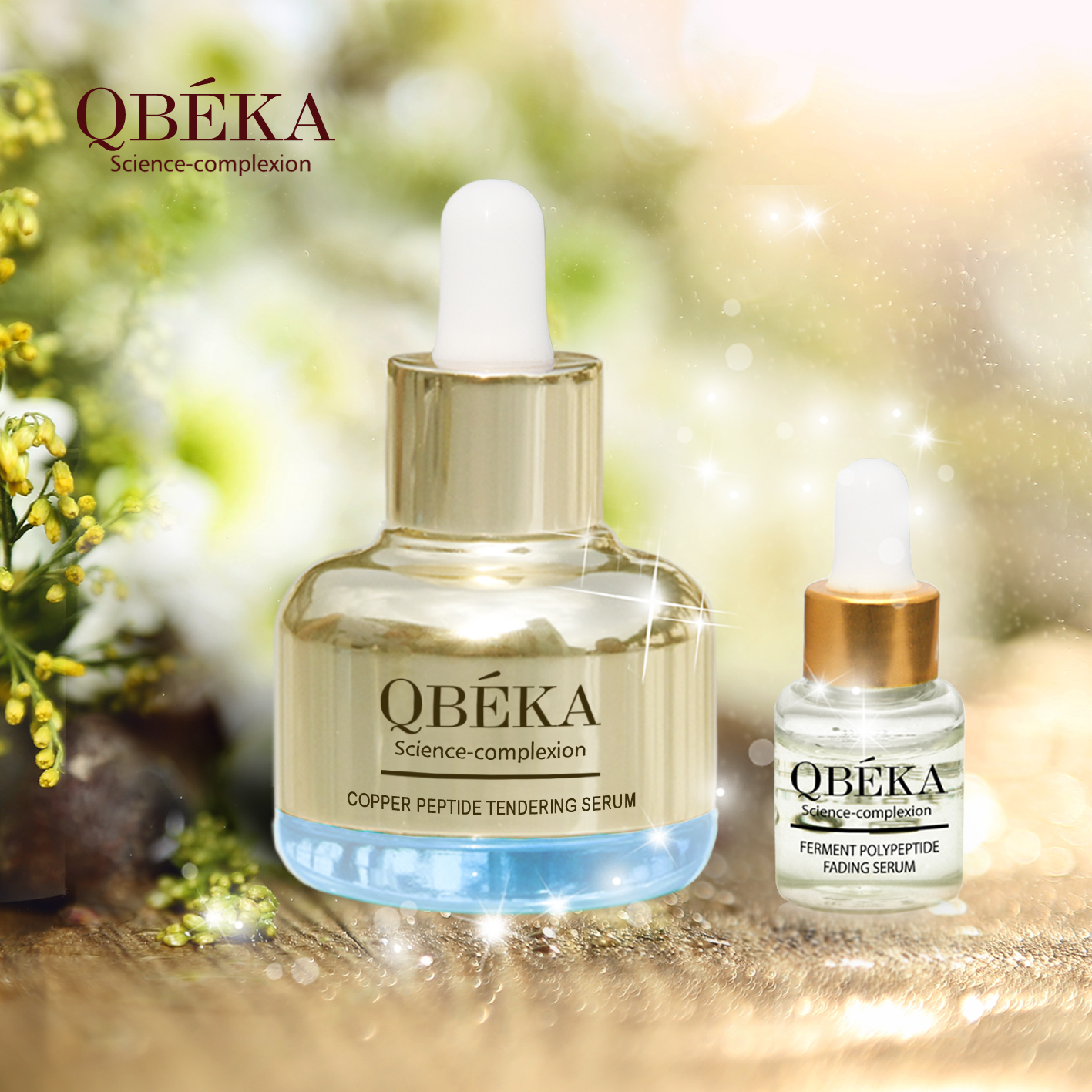 Tendering Anti-Aging serum QBEKA Copper Peptide Tendering Anti-Aging Set