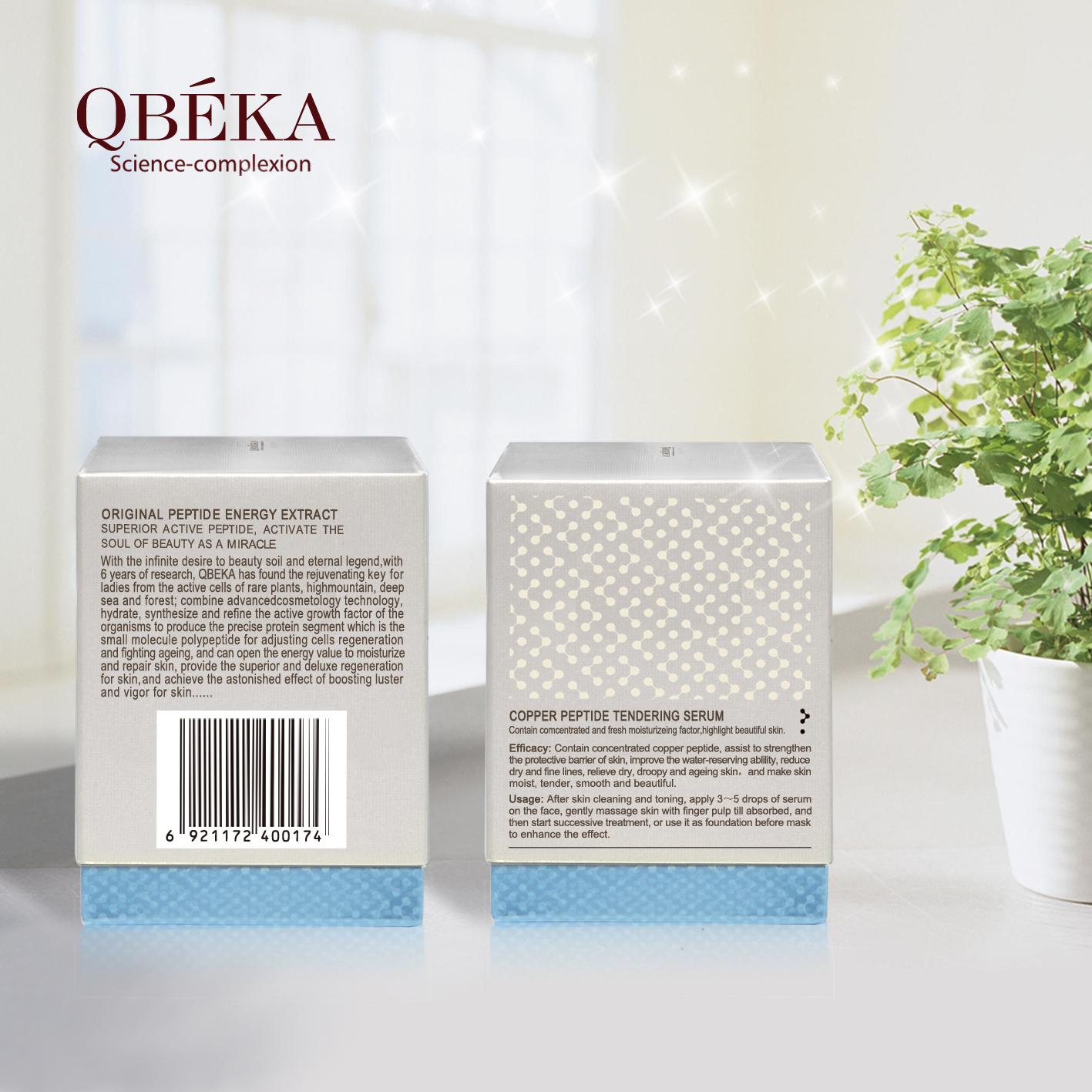 Tendering Anti-Aging serum QBEKA Copper Peptide Tendering Anti-Aging Set